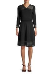 Calvin Klein Striped Illusion A-Line Dress