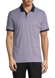 Calvin Klein Striped Liquid Cotton Polo Shirt