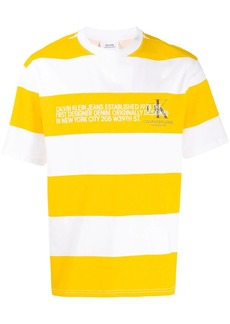 Calvin Klein striped logo T-shirt