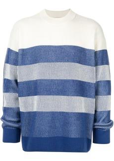 Calvin Klein striped long-sleeve jumper