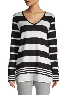 Calvin Klein Striped Long-Sleeve Sweater