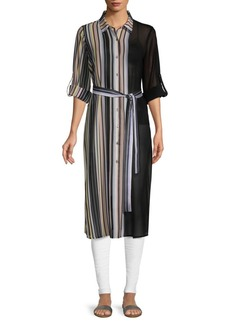 Calvin Klein Striped Long-Sleeve Tunic