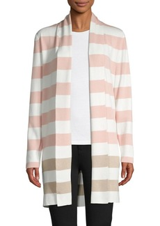 Calvin Klein Striped Open-Front Cardigan