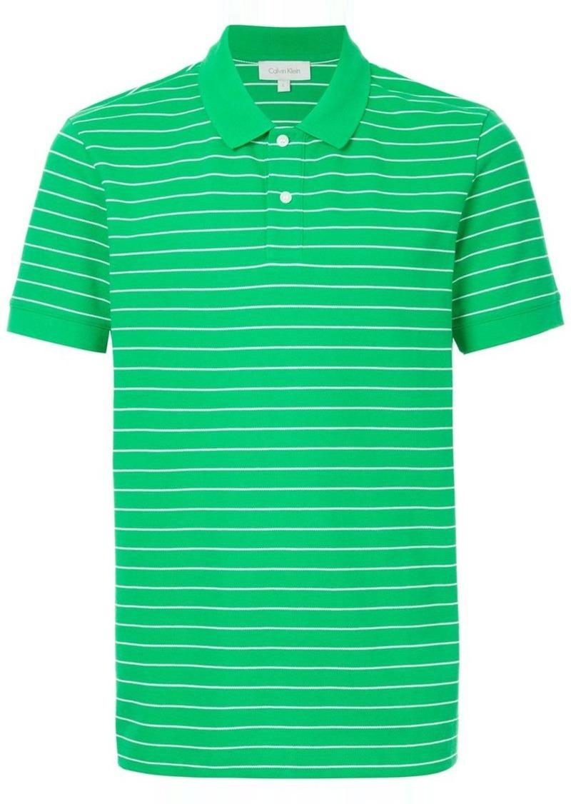 Calvin Klein striped polo shirt