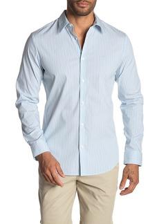 Calvin Klein Striped Poplin Stretch Shirt