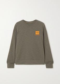Calvin Klein Striped Printed Cotton-blend Jersey Sweatshirt