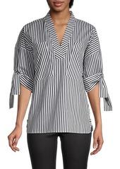 Calvin Klein Striped Raglan-Sleeve Blouse