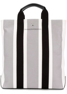 Calvin Klein striped shopper tote