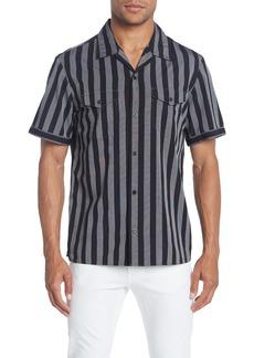 Calvin Klein Striped Short Sleeve Stretch Fit Shirt