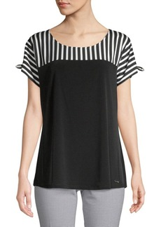Calvin Klein Striped Short-Sleeve Top