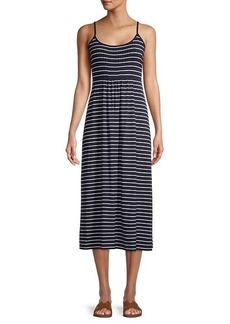 Calvin Klein Striped Sleeveless Dress
