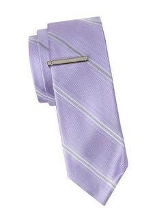 Calvin Klein Striped Slim Silk Tie