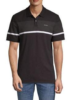 Calvin Klein Striped Stretch Polo