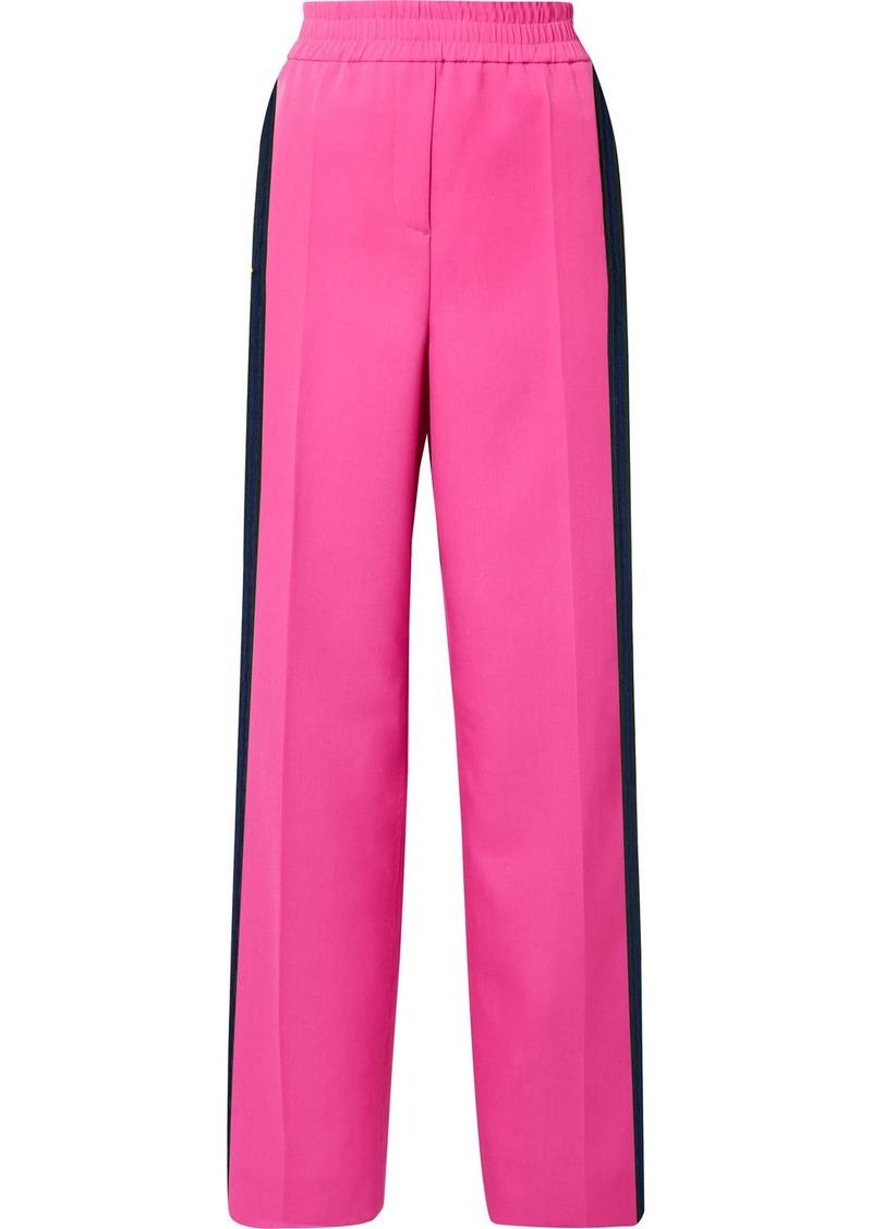 Calvin Klein Striped Wool-gabardine Track Pants