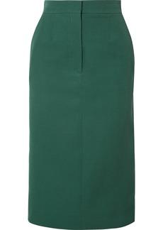 Calvin Klein Striped Wool Midi Skirt