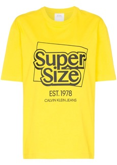 Calvin Klein supersize me logo cotton T-shirt