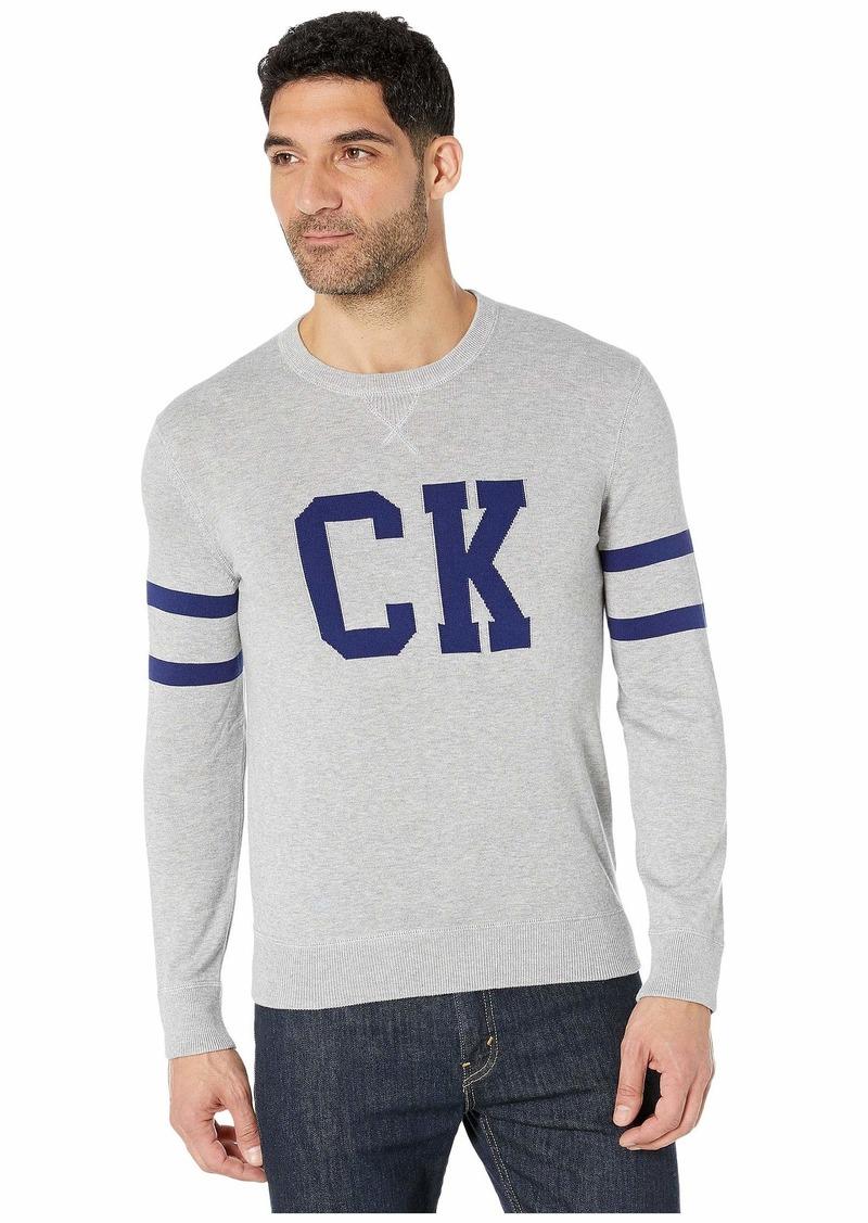 Calvin Klein Supima CK Logo Crew