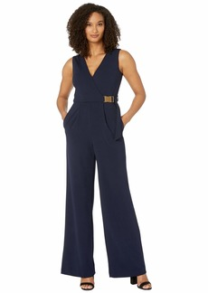 Calvin Klein Surplus Neck Jumpsuit with Side Buckle