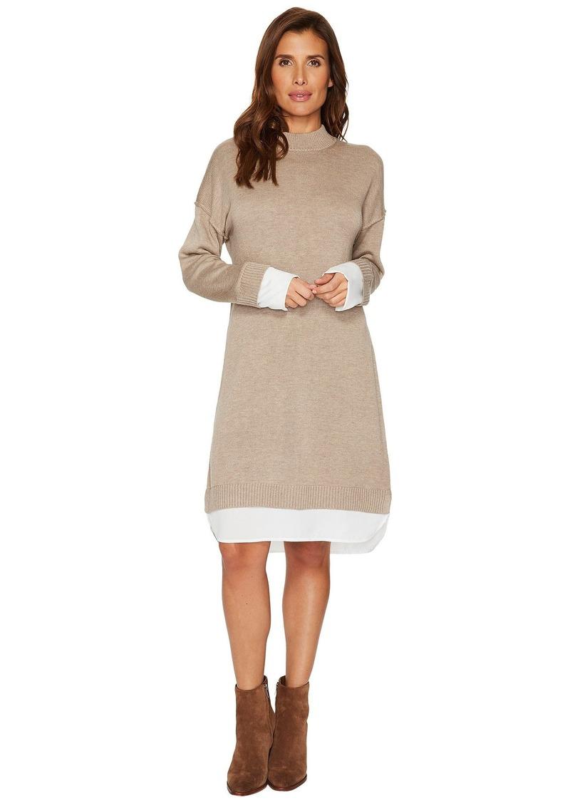 Calvin Klein Sweater Dress with Shirting