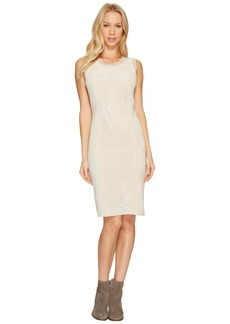 Calvin Klein Sweater Dress with Suede Front