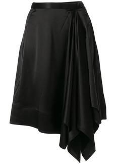 Calvin Klein symmetric crepe skirt
