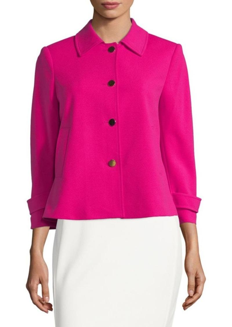 Calvin Klein Tab-Sleeve Button Jacket