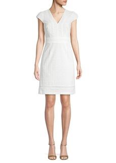 Calvin Klein Textured Cotton Sheath Dress