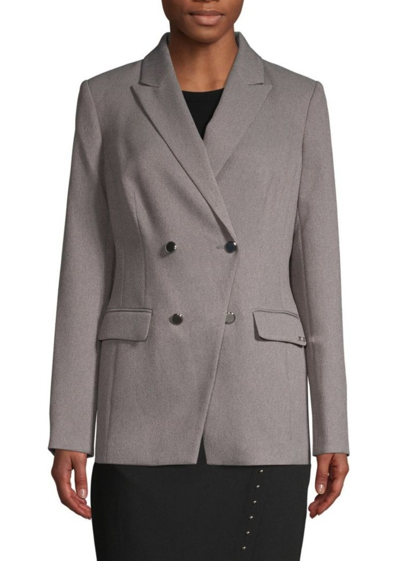 Calvin Klein Textured Double-Breasted Jacket