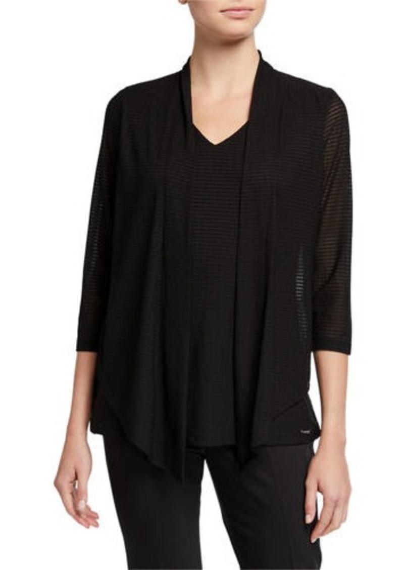Calvin Klein Textured Faux-Flyaway Sweater