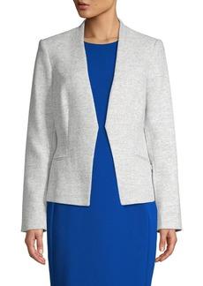 Calvin Klein Textured Open-Front Blazer