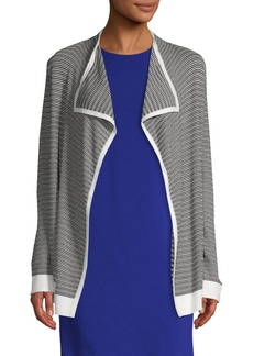 Calvin Klein Textured Open-Front Cardigan
