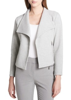 Calvin Klein Textured Open-Front Jacket