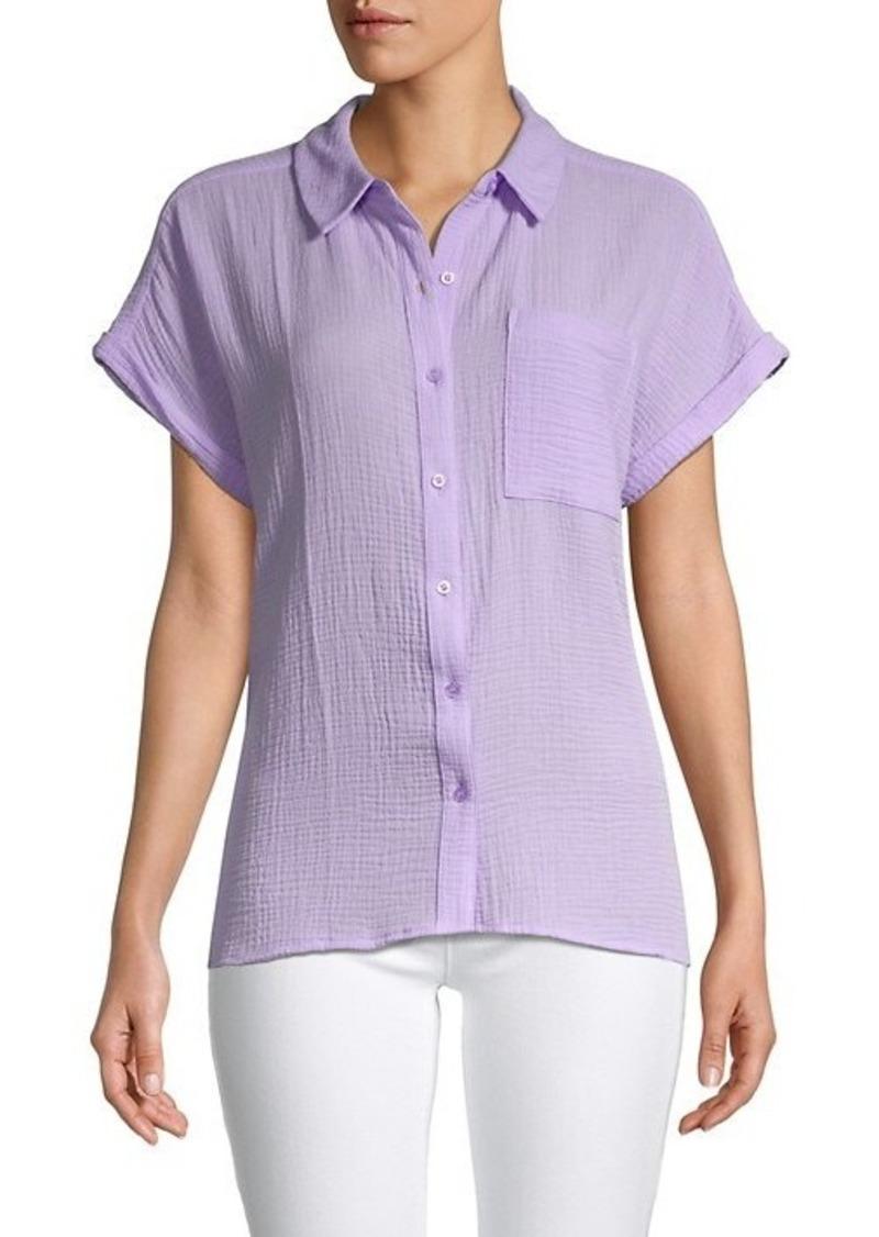Calvin Klein Textured Short-Sleeve Shirt