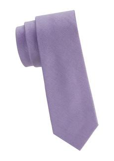 Calvin Klein Textured Silk & Cotton Blend Narrow Tie