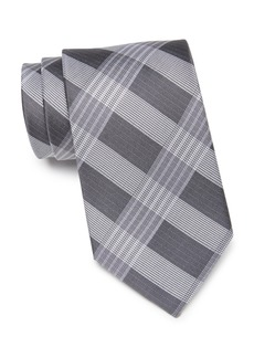 Calvin Klein Thick Semi Contrast Plaid Silk Tie