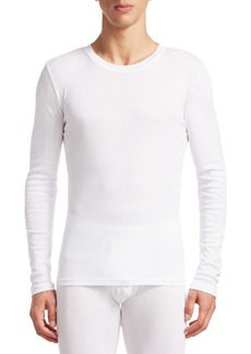 Calvin Klein Three-Pack Long-Sleeve Crewneck Cotton T-Shirts