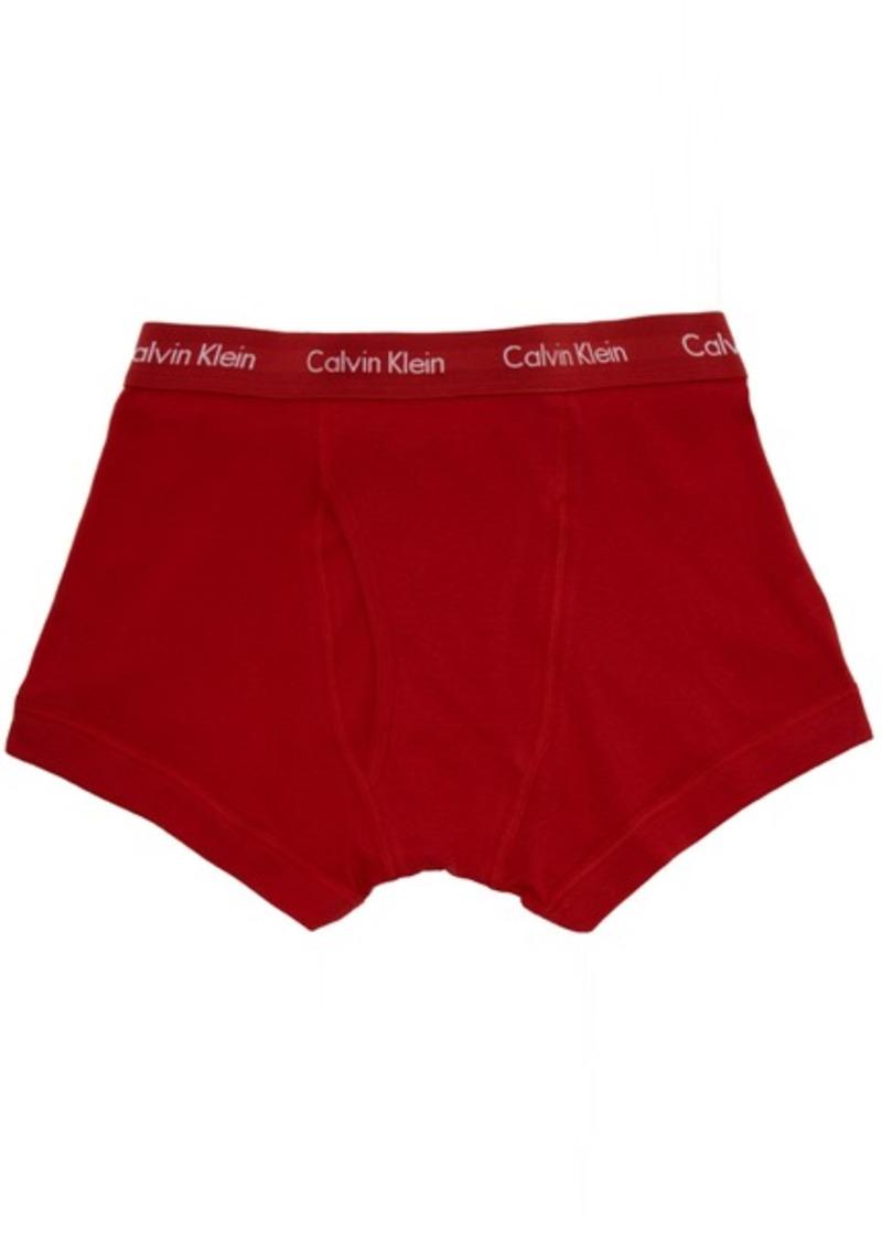 Calvin Klein Three-Pack Multicolor Core Plus Boxer Briefs