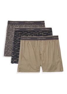 Calvin Klein Three-Pack Slim Fit Print Boxers