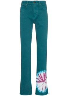Calvin Klein tie dye print straight jeans
