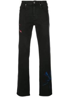 Calvin Klein tie-dye straight jeans