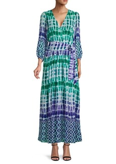 Calvin Klein Tie-Dyed Long-Sleeve Maxi Dress