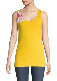Calvin Klein Tie-Dyed Stretch-Cotton Tank Top