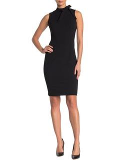 Calvin Klein Tie Neck Sheath Dress