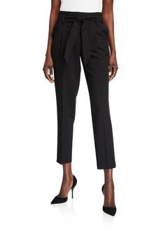 Calvin Klein Tie-Waist Straight Ankle Pants