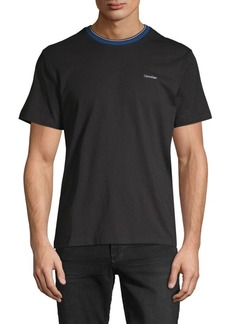 Calvin Klein Tipped Logo Cotton Tee