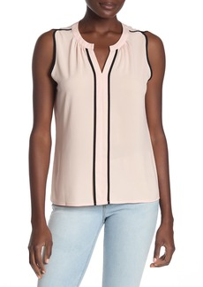 Calvin Klein Tipped Split Neck Tank Top