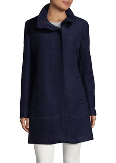 Calvin Klein Toggle-Trim Boucle Long Coat