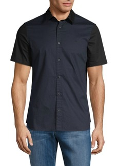 Calvin Klein Tonal-Colorblock Cotton Sport Shirt