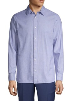 Calvin Klein Tonal Plaid Button-Down Shirt