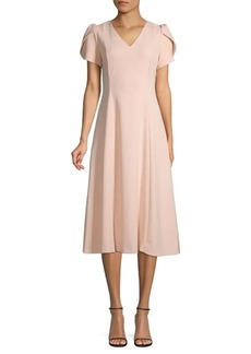 Calvin Klein Tulip-Sleeve Knee-Length Dress